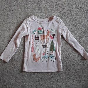 Carters girl 5 long sleeve shirt
